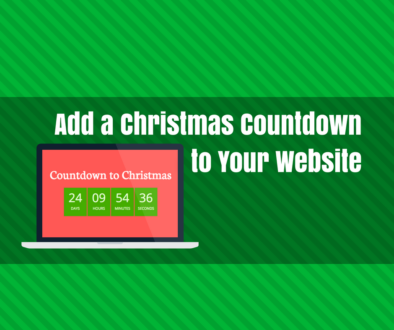 add a christmas countdown to your website